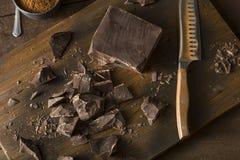 Organic Semi Sweet Dark Chocolate Chunks Royalty Free Stock Photography