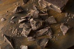 Organic Semi Sweet Dark Chocolate Chunks Stock Images