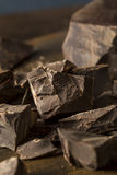 Organic Semi Sweet Dark Chocolate Chunks Stock Photography