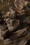 Organic Semi Sweet Dark Chocolate Chunks Royalty Free Stock Photo