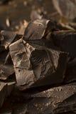 Organic Semi Sweet Dark Chocolate Chunks Stock Photo