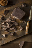 Organic Semi Sweet Dark Chocolate Chunks Stock Image