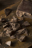Organic Semi Sweet Dark Chocolate Chunks. For Baking Stock Photography