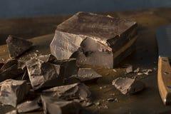 Organic Semi Sweet Dark Chocolate Chunks Royalty Free Stock Images
