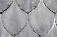 Organic shaped slate stone wall. Stock Photos