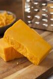 Organic Sharp Cheddar Cheese Royalty Free Stock Photos