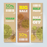 Organic shop banners Royalty Free Stock Images