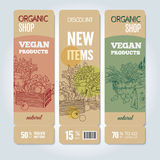 Organic shop banners Stock Photo