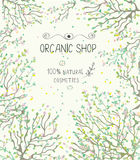 Organic shop template for natural products Royalty Free Stock Image