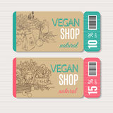 Organic shop template Stock Photo