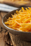Organic Shredded Sharp Cheddar Cheese Stock Photography