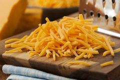Organic Shredded Sharp Cheddar Cheese Royalty Free Stock Photography