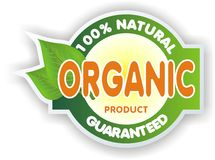 Organic sign Stock Images