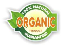 Organic sign. 100% natural guaranteed Stock Images