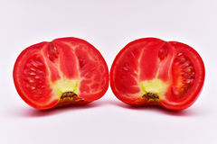 Organic Sliced Tomato. Natural Organic Not GMO Sliced Tomato. Organic food Royalty Free Stock Images