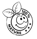 Organic Smiley With Leaves stock photo