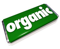 Organic Snack Candy Bar Natural Healthy Food Choice Royalty Free Stock Image