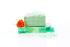 Organic soap bar isolated. Stock Photo
