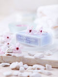 Organic Soap with Lavender Oil Stock Photo