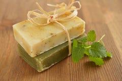 Organic soap Royalty Free Stock Photography