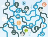 Organic social media concept Stock Image