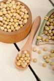 Organic soya beans Stock Photo