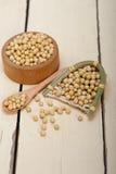 Organic soya beans Royalty Free Stock Photography
