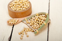 Organic soya beans Royalty Free Stock Images