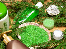 Organic spa and pampering cosmetic products Stock Photography