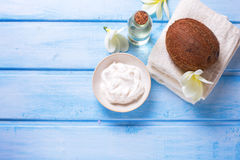 Organic spa products. Royalty Free Stock Photography
