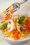 Organic Spaghetti squash primavera-Paleo diet Stock Photo