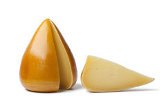 Organic Spanish smoked cheese Royalty Free Stock Images