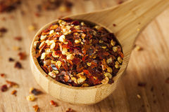 Organic Spicy Red Pepper Flakes Stock Image