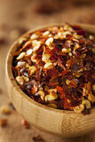Organic Spicy Red Pepper Flakes Royalty Free Stock Photo