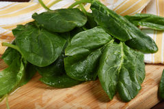 Organic spinach Stock Photo
