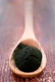 Algae powder spirulina Stock Images
