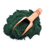 Organic spirulina algae powder Stock Photo