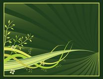 Organic Spring Banner. Just add your own text and it's ready to go Stock Photography