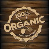 Organic stamp carved on wood Stock Photography