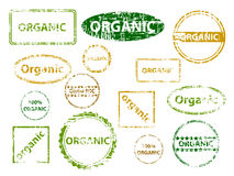 Organic Stamps Royalty Free Stock Images