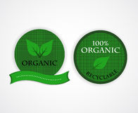 Organic  stamps Royalty Free Stock Photo