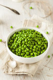 Organic Steamed Fresh Green Peas Stock Photo