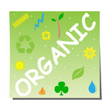 Organic sticker Stock Photo