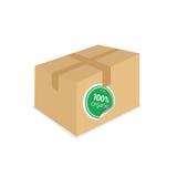Organic sticker on box vector Royalty Free Stock Image