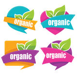 Organic stickers. Cool and bright organic stickers collection Royalty Free Stock Photography