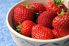 Organic Strawberies Royalty Free Stock Photography