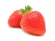 Organic Strawberries Royalty Free Stock Photography