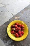 Organic strawberries Royalty Free Stock Photos