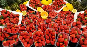 Organic Strawberries Royalty Free Stock Photos