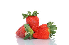 Organic Strawberries Stock Photography